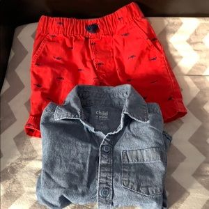 Boys shorts and shirts!